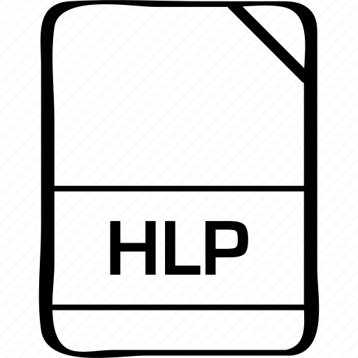 file, hlp, name icon