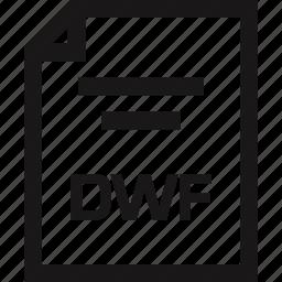 document, dwf, extension, name icon