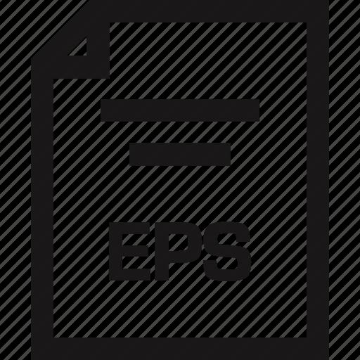 document, eps, extension, name icon