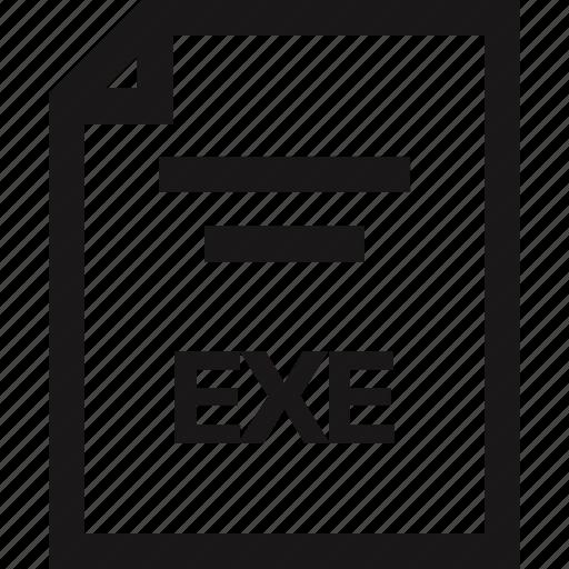 document, exe, extension, name icon