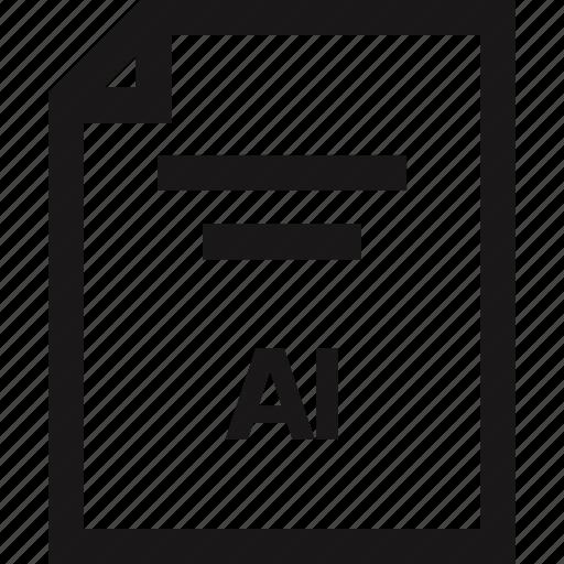 document, extension, illustrator, name icon