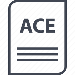 ace, document, extension, file, name, page icon