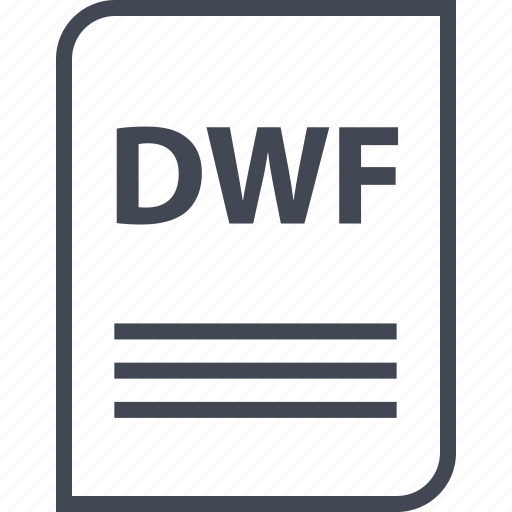 document, dwf, extension, file, name, page icon