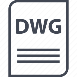 document, dwg, extension, file, name, page icon