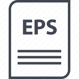 document, eps, extension, file, name, page icon