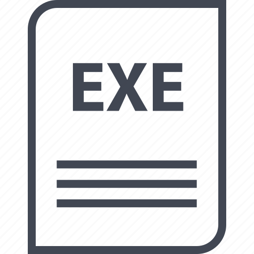 document, exe, extension, file, name, page icon