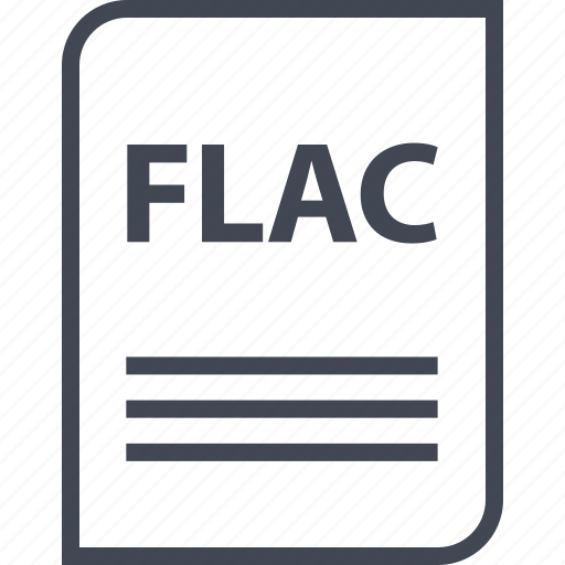 document, extension, file, flac, name, page icon