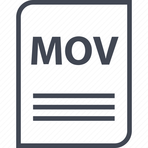 document, extension, file, mov, mov file, name, page icon