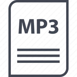 document, extension, file, mp3, name, page icon