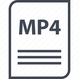document, extension, file, mp4, name, page icon