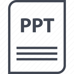 document, extension, file, name, page, ppt icon