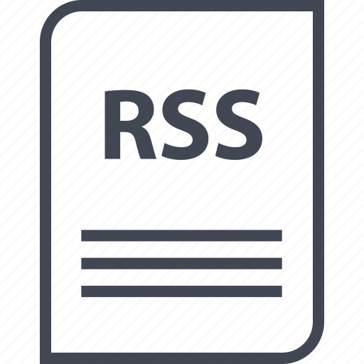 document, extension, file, name, page, rss icon