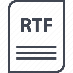 document, extension, file, name, page, rtf icon