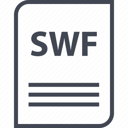 document, extension, file, name, page, swf icon