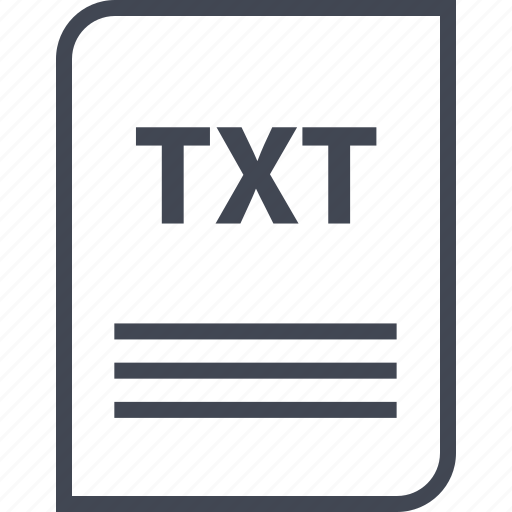 document, extension, file, name, page, txt icon