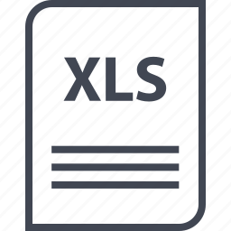 document, extension, file, name, page, xls icon