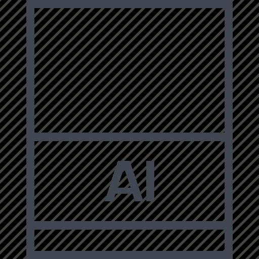 ai file, document, extension, file icon