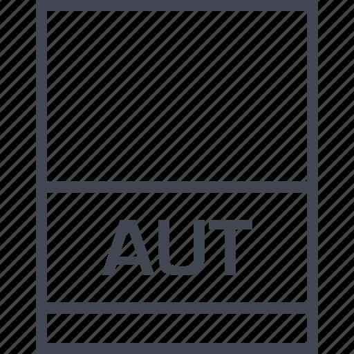 aut, document, extension, file icon
