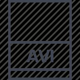 avi, document, extension, file icon
