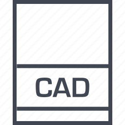 cad, document, extension, file icon
