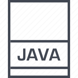 document, extension, file, java icon