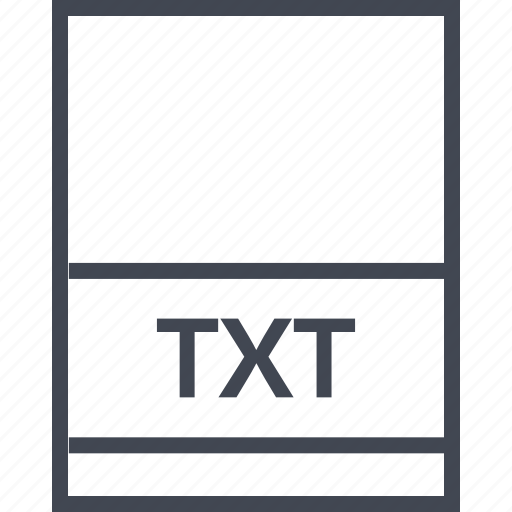 document, extension, file, txt icon