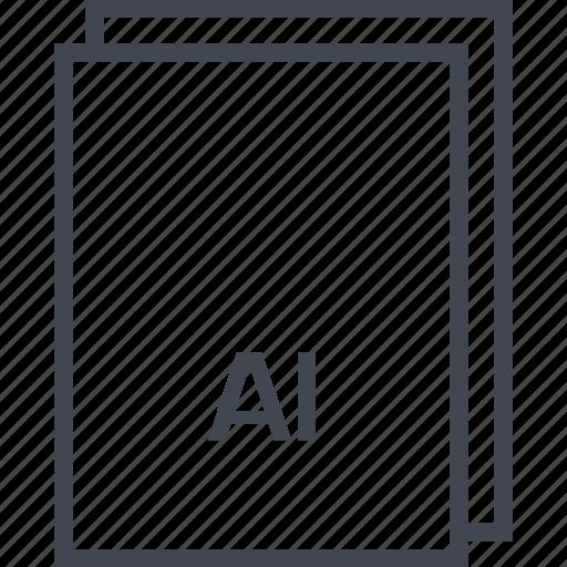 document, extension, file, illustrator file icon