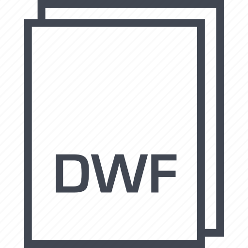 document, dwf, extension, file icon