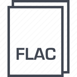 document, extension, file, flac icon