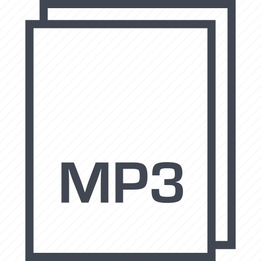 document, extension, file, mp3 icon