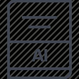 ai file, document, file, name icon