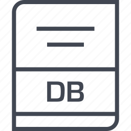 db, document, file, name icon