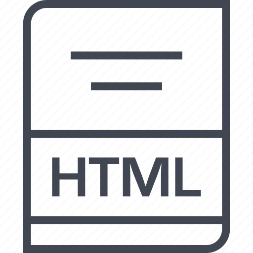 document, file, html, name icon