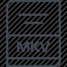 document, file, mkv, name icon