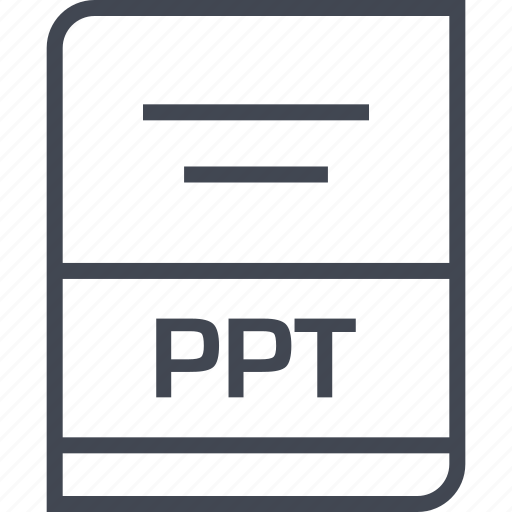 document, file, name, ppt icon