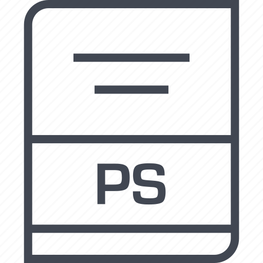 document, file, name, ps icon
