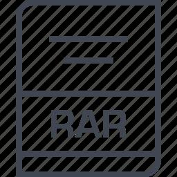 document, file, name, rar icon