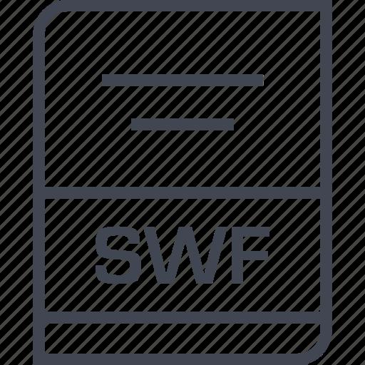 document, file, name, swf icon