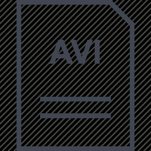 avi, document, file, name icon
