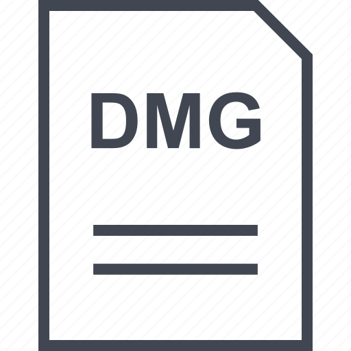 dmg, document, file, name icon