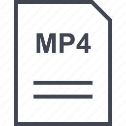 document, file, mp4, name icon