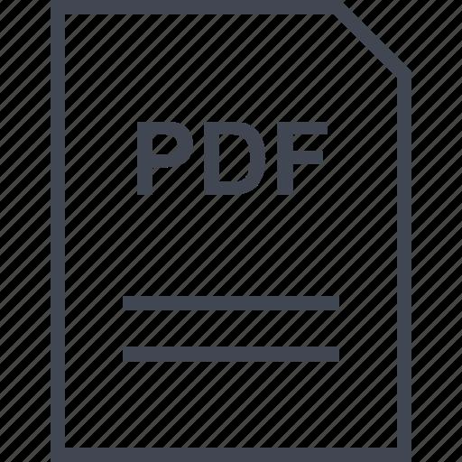 document, file, name, pdf icon