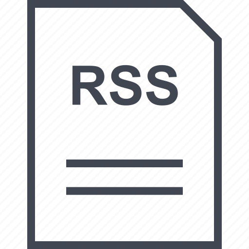 document, file, name, rss icon