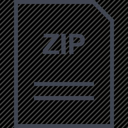 document, file, name, zip icon
