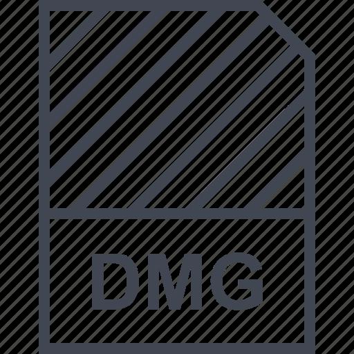 dmg, document, file, name icon