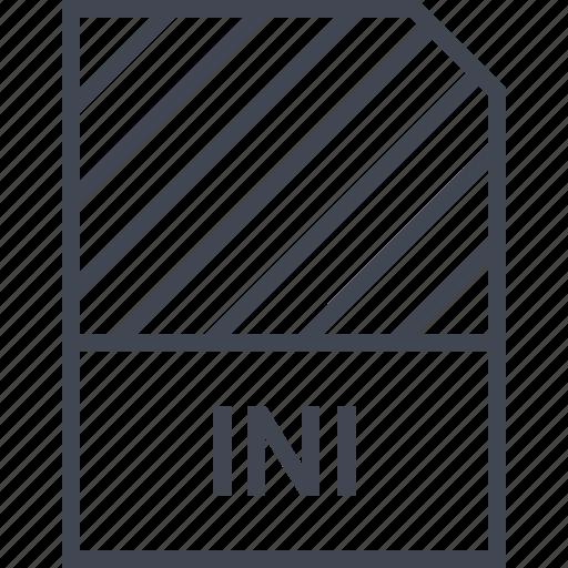 document, file, ini, name icon
