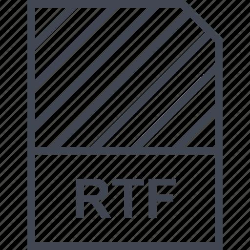 document, file, name, rtf icon