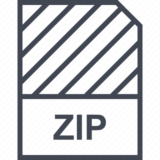 document, file, name, zip icon