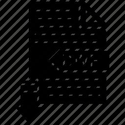 dwf, extensio, file, format, paper icon