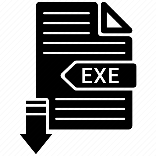 document, exe, extension, format, paper icon